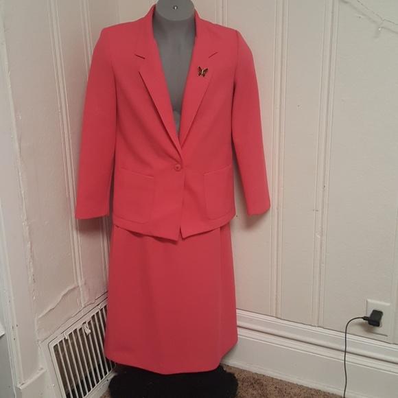 Devon Other Womens Suit Coat 12 Skirt 18 Coral Poshmark